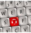 computer keyboard headphone key vector image vector image
