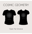 Cosmic Geometry T-Shirt vector image