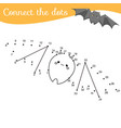 crtoon bat connect dots dot to dot by vector image vector image