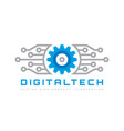 digital tech - business logo template vector image