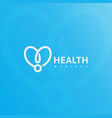 doctor stethoscope logo health care medical vector image vector image