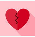 Flat Design Broken Heart Icon vector image