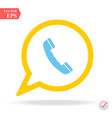 friendly discussing messaging on smartphone vector image vector image