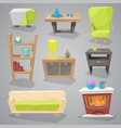 furniture furnishings design of couch and vector image