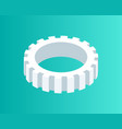 gear mechanism isometric icon vector image