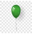 green balloon 3d thread isolated white vector image
