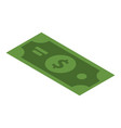 green dollar icon isometric style vector image vector image