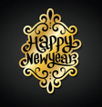 Happy new year card gold vector image vector image