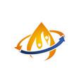 hydro healthy logo design template vector image