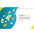 internet things landing page website vector image