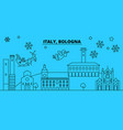 italy bologna winter holidays skyline merry vector image vector image