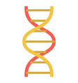lab dna structure icon flat style vector image vector image