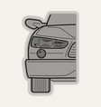 line flat icon car parts vector image