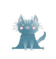 little cute adorable kitten sitting watercolor vector image vector image