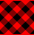 lumberjack plaid pattern in red and black vector image vector image