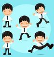Man Happy Funny Cartoon Set vector image vector image