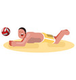 man playing voleyball vector image vector image