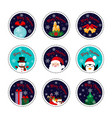 merry christmas patch set christmas and new year vector image vector image