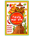 mexican holiday party invitation of cinco de mayo vector image vector image