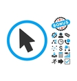 Mouse Pointer Flat Icon with Bonus vector image vector image