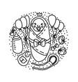 newborn baprince bashower vector image