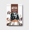 Packaging template with dogs and food design