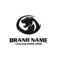 panther head logo vector image vector image