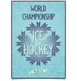 Postcard for World Hockey Championship in Belarus vector image vector image