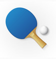 racket and ball for playing table tennis vector image