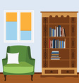 Reading room vector image vector image