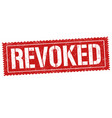revoked sign or stamp vector image vector image