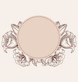 round floral frame vintage style flowers vector image