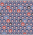 seamless pattern hedgehogs in blue and gray vector image