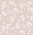 Seamless pattern with berries and spruce branches