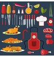 set cooking objects vector image