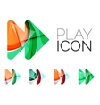Set of abstract next play arrow icon business vector image vector image