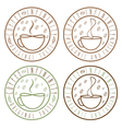 set of coffee infinity vintage labels vector image vector image