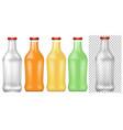 set of transparent bottle vector image