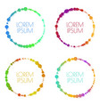 set round bright colorful banners vector image