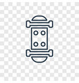 skate concept linear icon isolated on transparent vector image