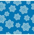 snowflake regular seamless vector image