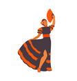 spanish dancer girl vector image vector image