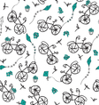summer bicycle ride vector image vector image