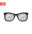 sunglasses black icon on white background vector image vector image