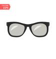 sunglasses black icon on white background vector image