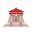 taiwan temple icon flat style vector image