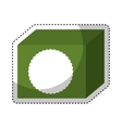 tea box isolated icon vector image