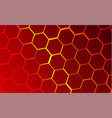 technological background of bee honeycombs vector image vector image