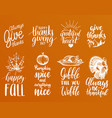 thanksgiving lettering with vector image vector image