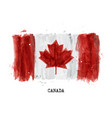watercolor painting flag of canada vector image